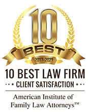 10 BEST 2017-2021 | 10 BEST LAW FIRM | CLIENT SATISFACTION | American Institute Of Family Law Attorneys